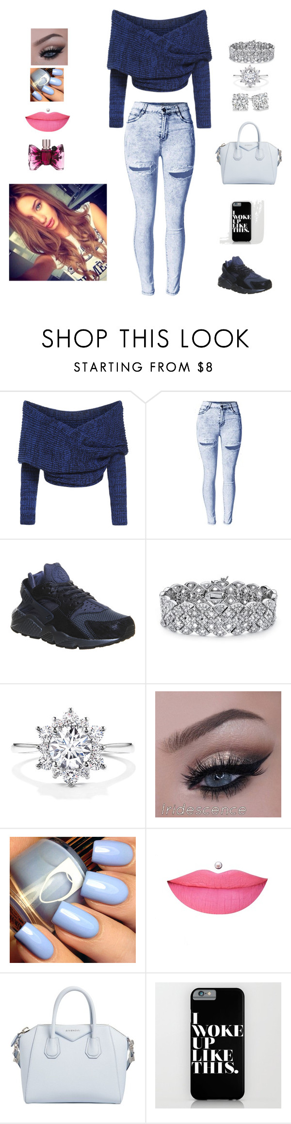 """""""simple day"""" by creative-doll ❤ liked on Polyvore featuring NIKE, Palm Beach Jewelry, Anastasia Beverly Hills, Givenchy and Viktor & Rolf"""