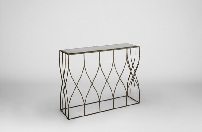 metal hall table. Great For Wall, Hall Or Sofa The Easton Gold Metal Console Table Is Made Of Rhythmic Thin Iron Arches In Transitional Style All Topped With Antiqued Mirror. T