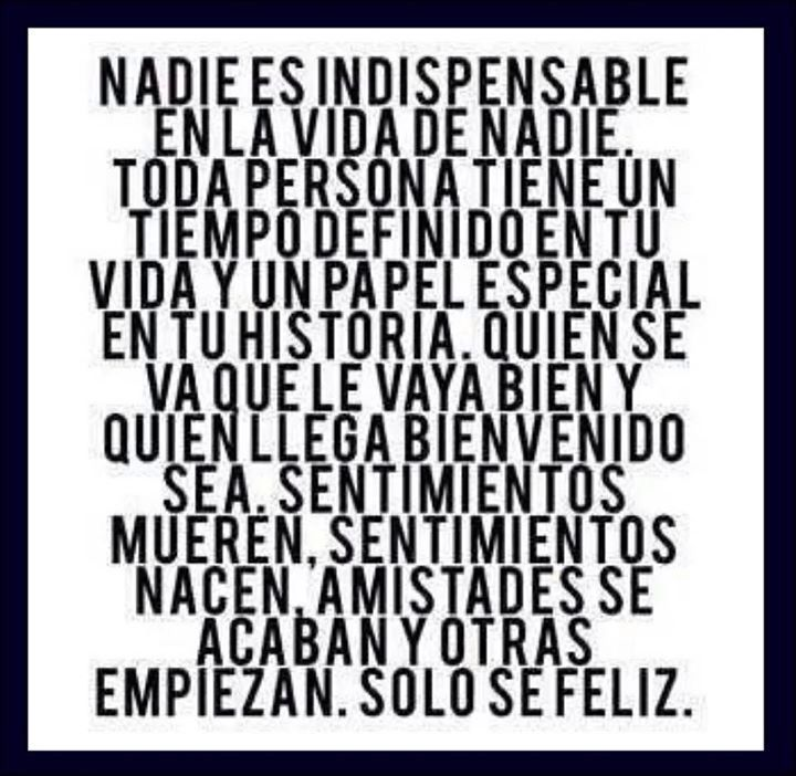 Nadie es indispensable