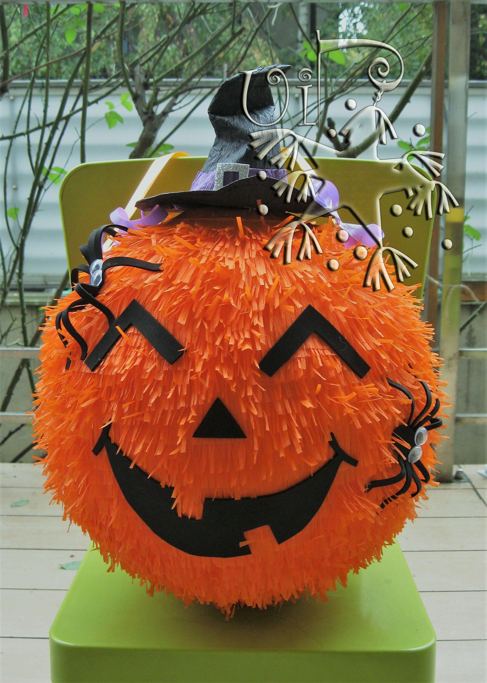 Pumpkin Halloween Pinata Birthday Halloween Party Kids Halloween Birthday Party Halloween Pinata