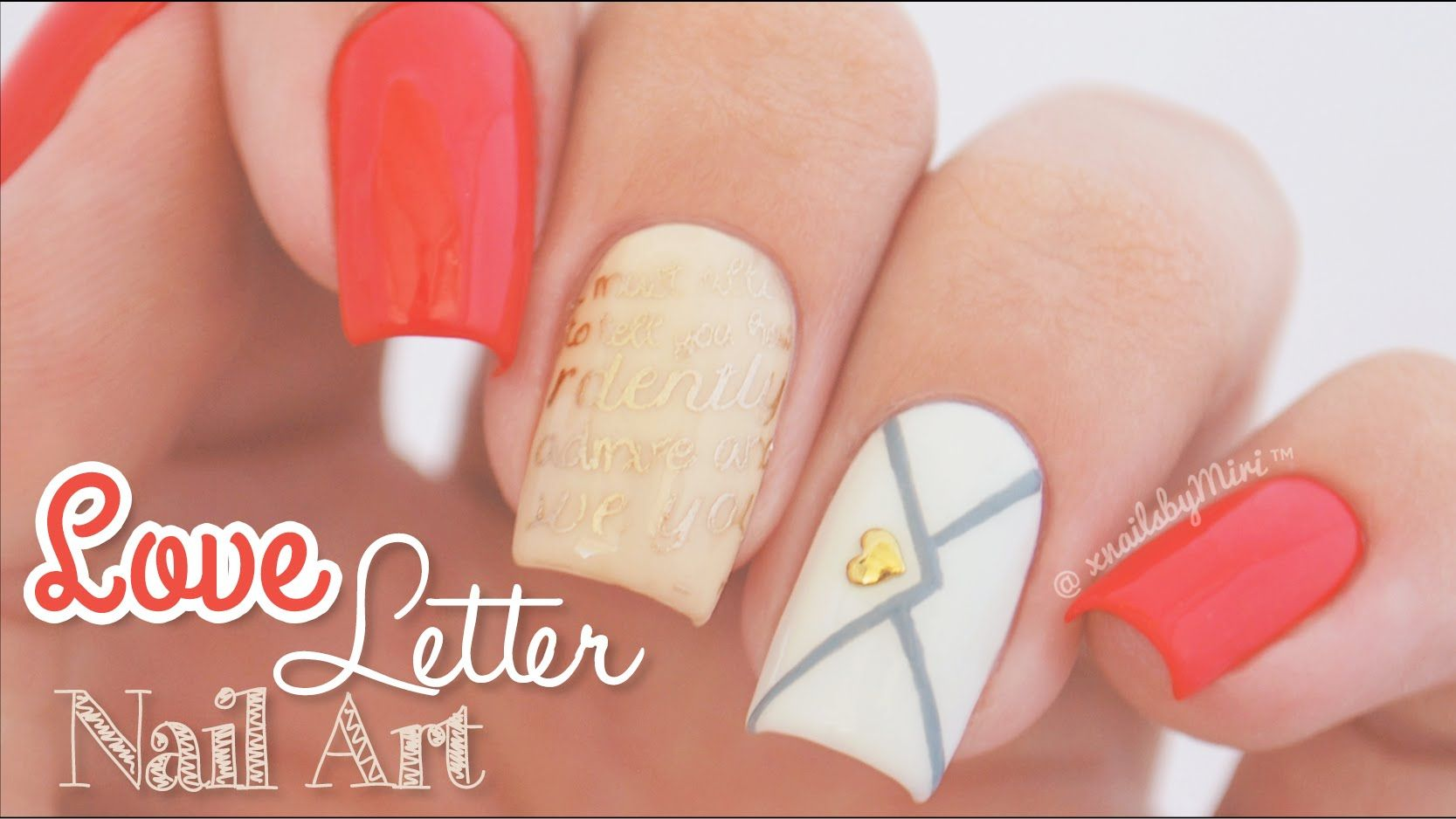 Love Letter Nail Art || MoYou London \