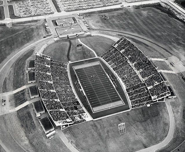 Jack Trice Stadium Circa 1975 With Images Iowa State Iowa