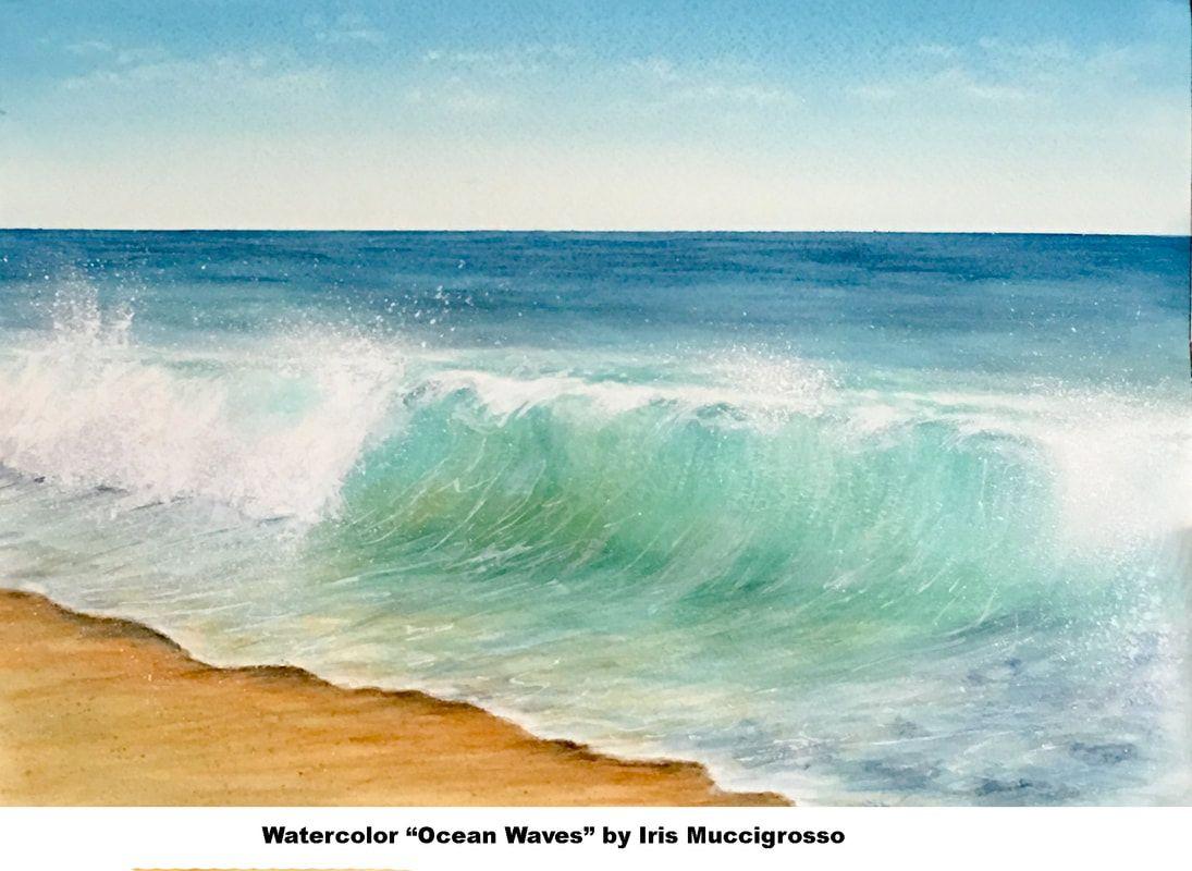 Maria Raczynska Online Class Watercolor Ocean Waves Student