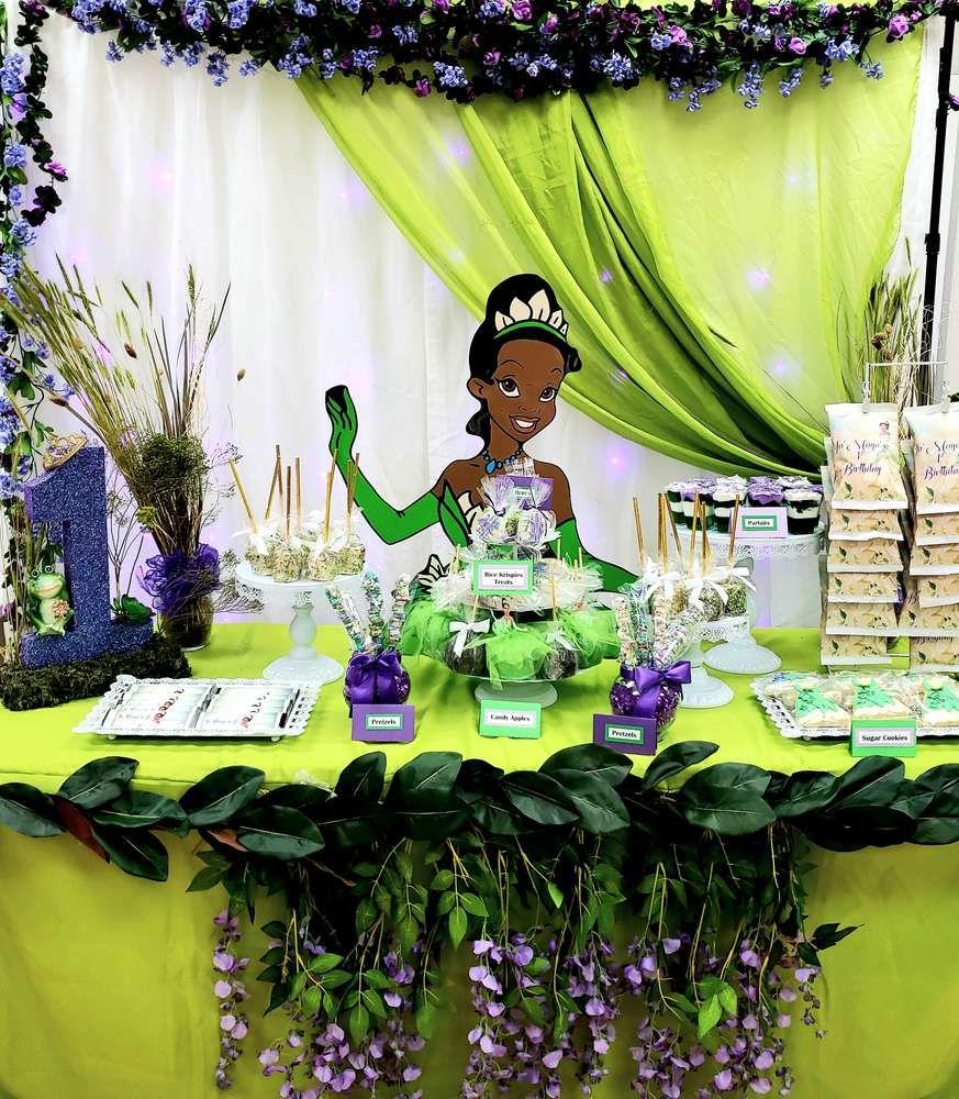 Princess Ja Maya Catchmyparty Com Princess Tiana Birthday Party Princess Tiana Party Frog Birthday Party