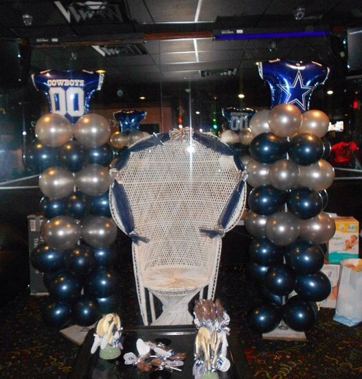 Dallas Cowboy Themed Baby Shower Set