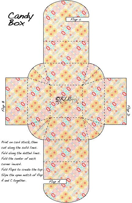 chocolate boxes template Floral Candy Box Template by ~kAt-LIkeS