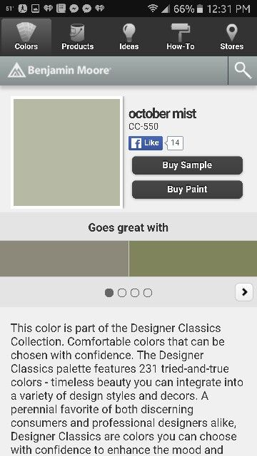 benjamin moore october mist buying paint benjamin moore on benjamin moore color visualizer id=41422