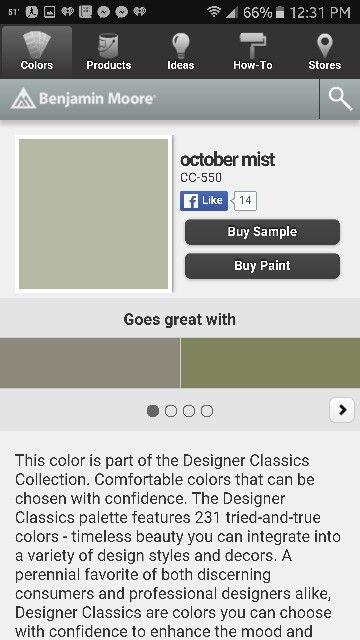Benjamin Moore October Mist Buying Paint Benjamin Moore Kitchen Guest Room Office