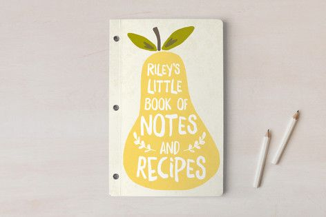 Pear Day Planner, Notebook, or Address Book by August and Oak at minted.com