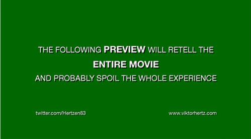How movie previews work.