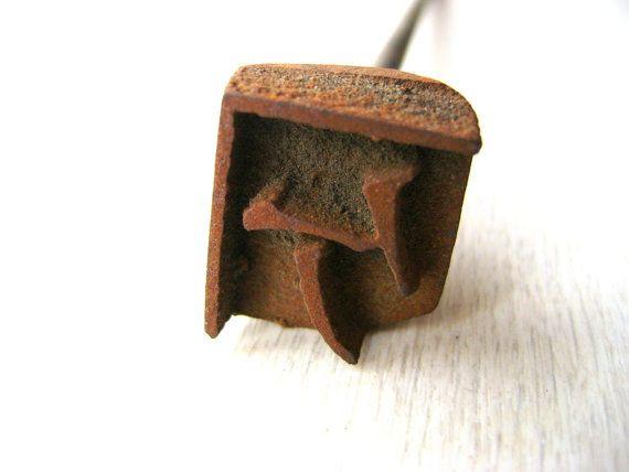 Vintage Japanese Yakiin Branding Iron Katakana by VintageFromJapan, $8.00