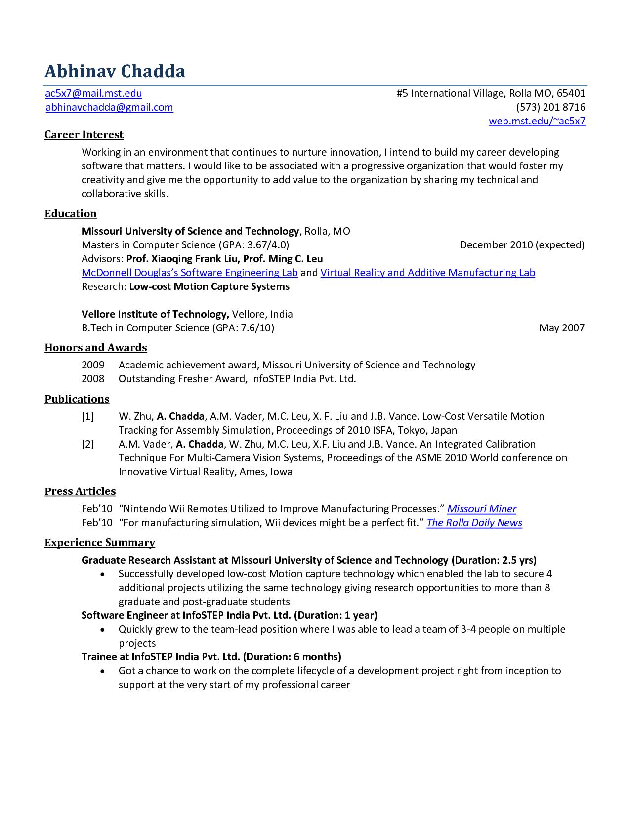 Controls Engineer Sample Resume Research Paper Guide Sheetapa Style Essentialsdouglas Degelman