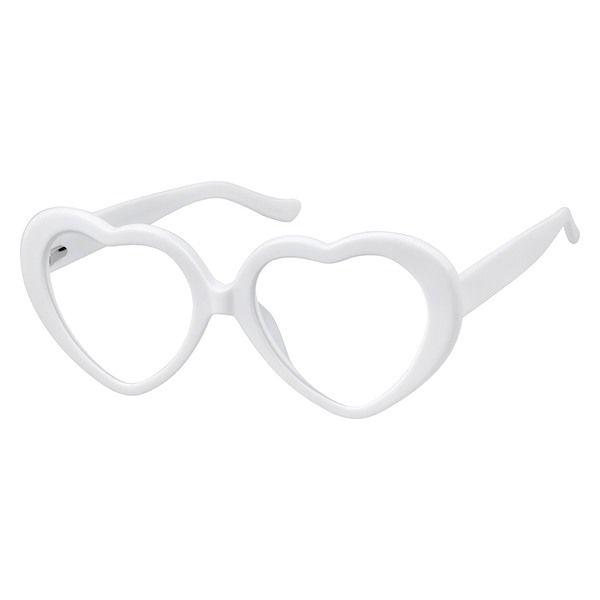 931af85f6e6 Zenni Heart-Shaped Prescription Eyeglasses White Plastic 4420230 in ...