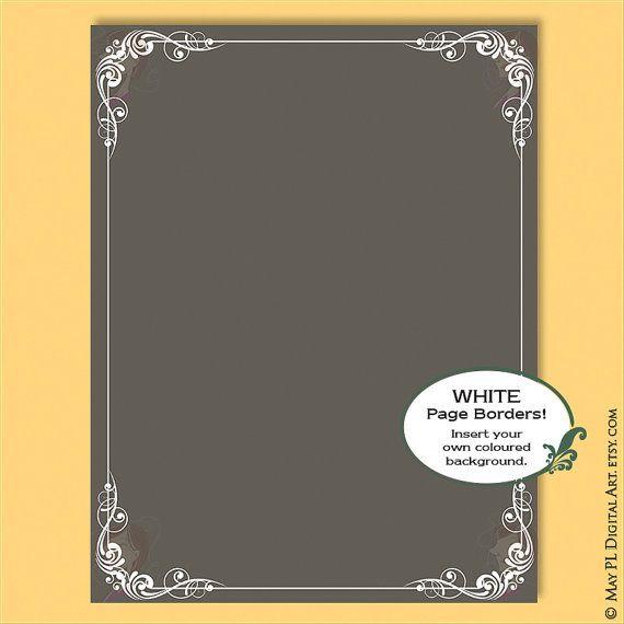 8x11 wedding invites white border corners decorative flourish frame foliage frames commercial use certificate award vector