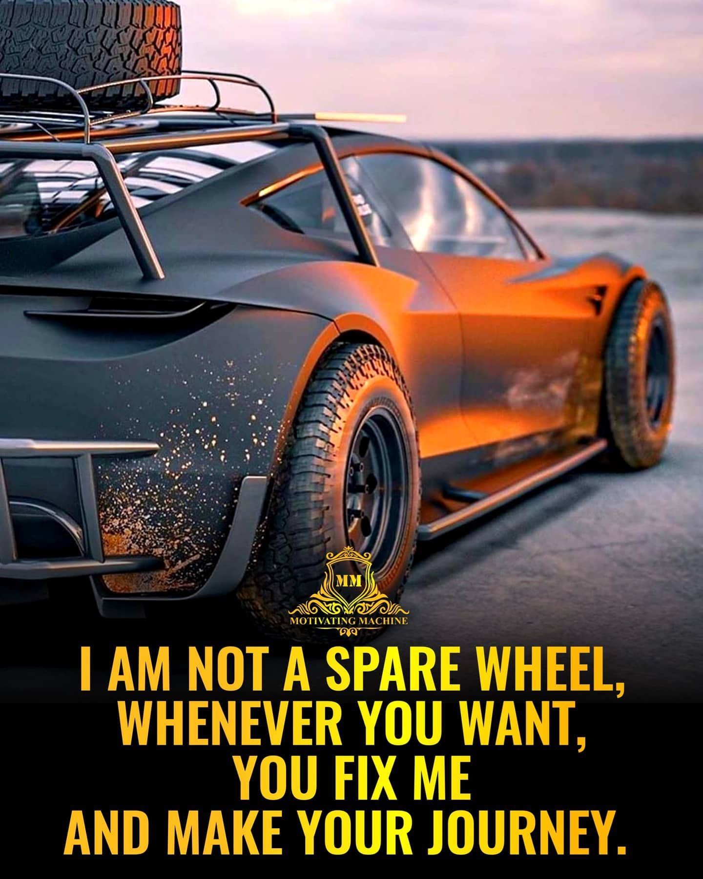 I Am Not A Spare Wheel Whenever You Want You Fix Me And Make Your Journey Thanks To Bradbuilds For These Awesome Photos In 2020 Journey Thankful Photo