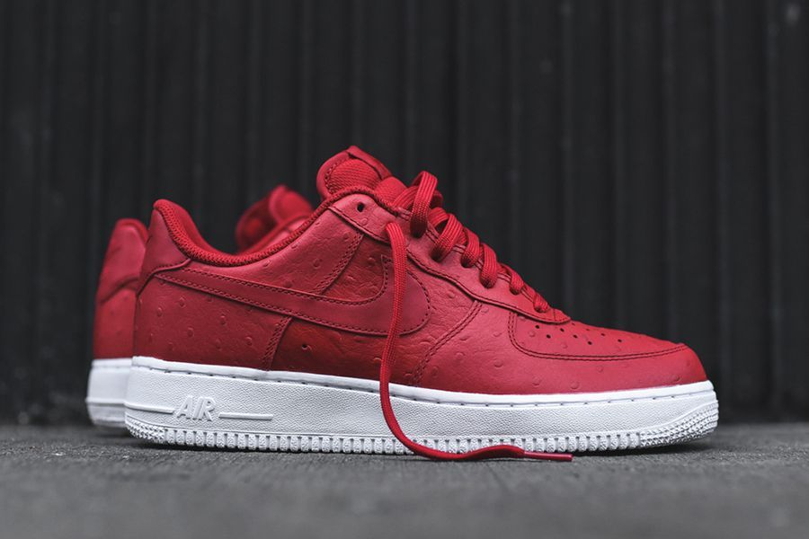 Nike-Air-Force-1-07-LV8-Red-Ostrich-
