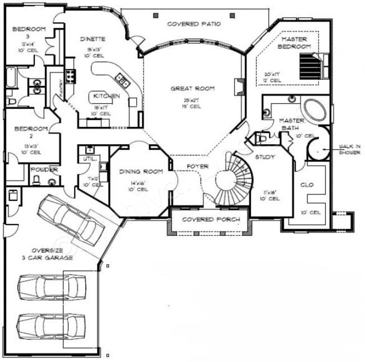 West Gate House Plan West Gate House Plan First Floor Archival Designs Two Story House Plans House Plans 4000 Sq Ft House Plans