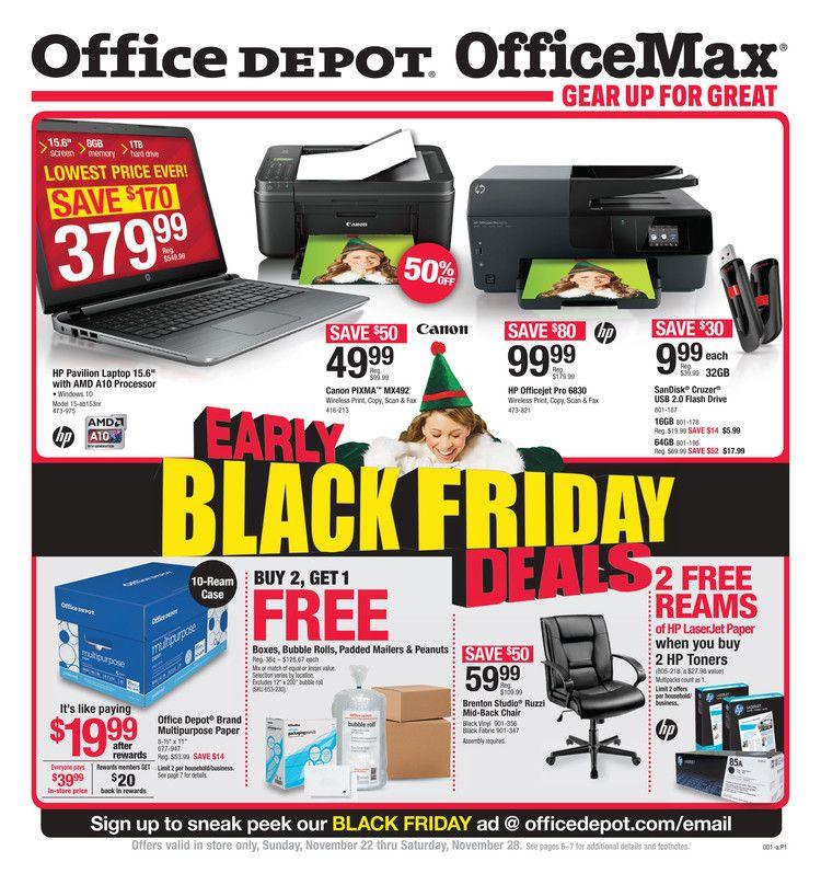 Office Depot / OfficeMax Ad November 22 28, 2015 http