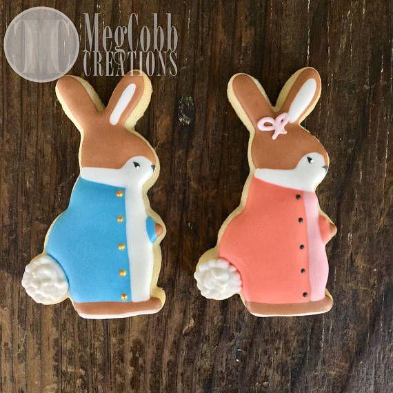12 Bunny Rabbit Sugar Cookies Peter Rabbit Flopsy Mopsy