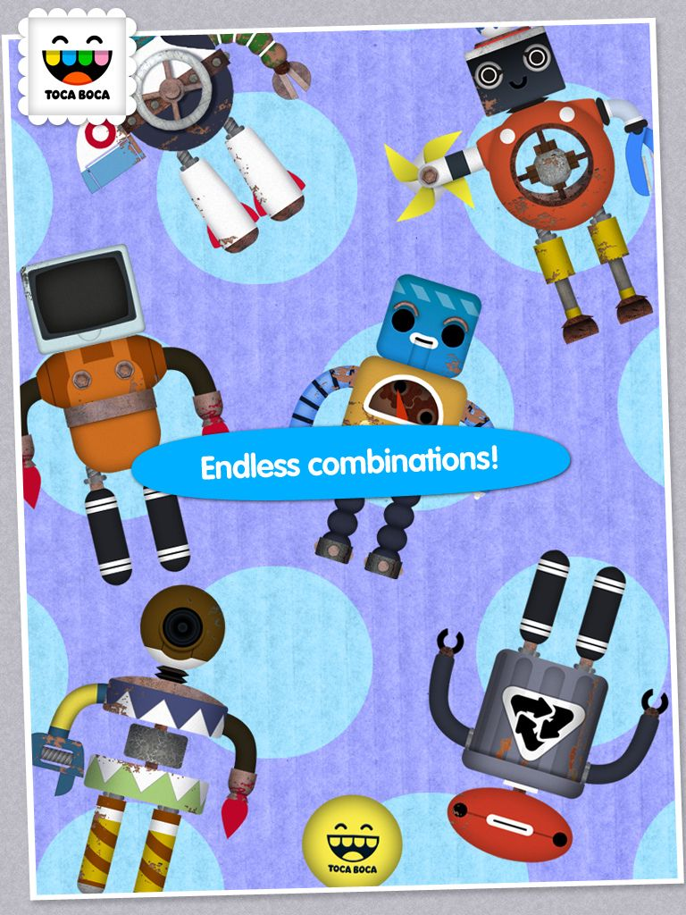 Endless Robot Combinations In Toca Robot Lab By Toca Boca Http Itunes Apple Com Us App Toca Robot L Toddler Ipad Toddler Ipad Apps Educational Apps For Kids