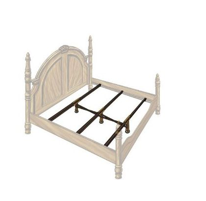 Steel Bed Frame Center Support 3 Rails, 3 Adjustable Legs GS-3XS in ...