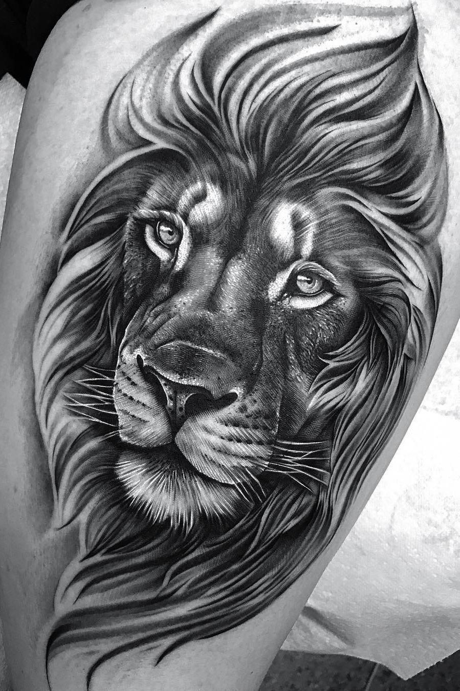 Small Tattoo Idea Lion Head Tattoos Mens Lion Tattoo Tribal Lion Tattoo