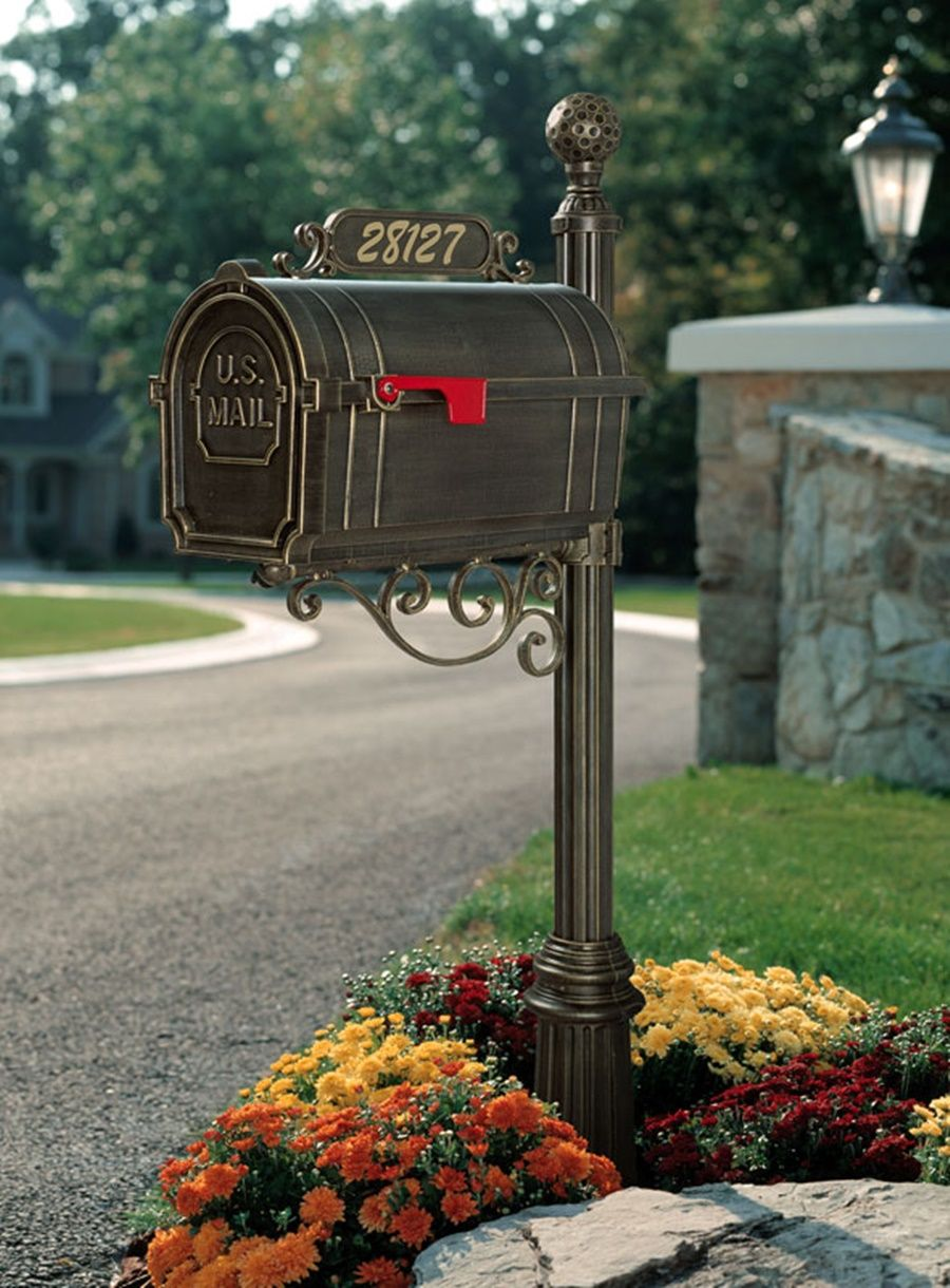 the furniture decorations in rose pin and pole steel mailbox pot with using decor retainer a