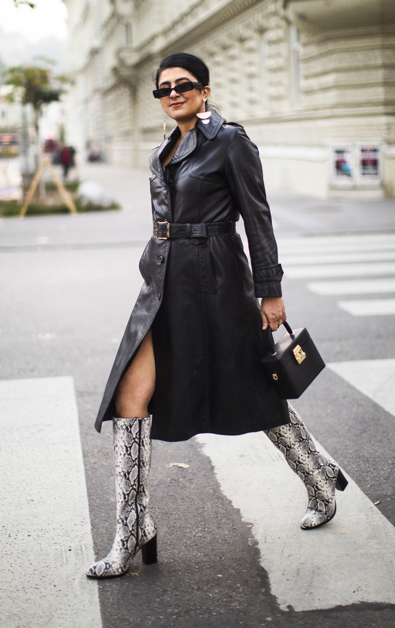 Leather Trench Coat Outfit