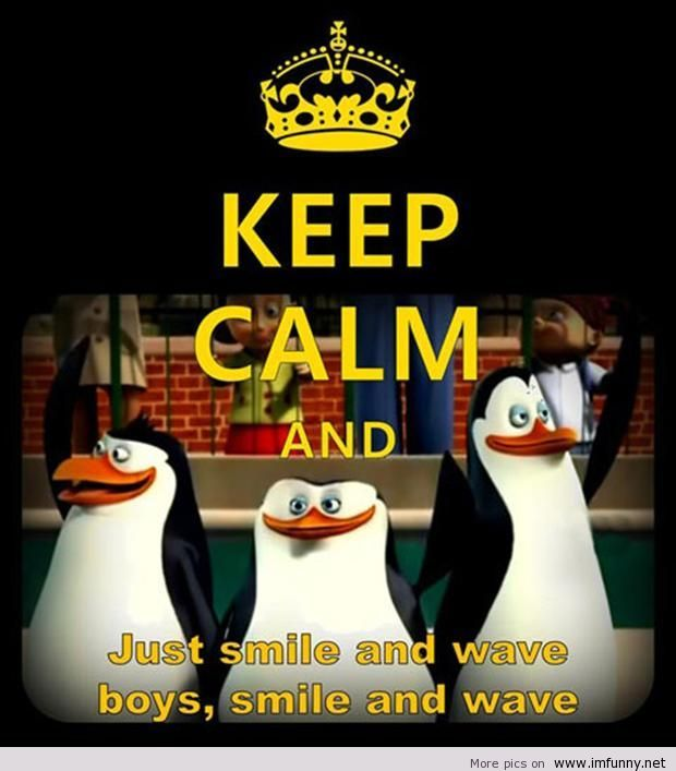 Penguins Of Madagascar Keep Calm And Smile Just Smile Smile