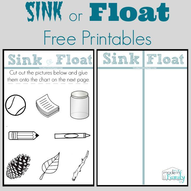 Sink Or Float Chart Sinks Chart And Preschool Science