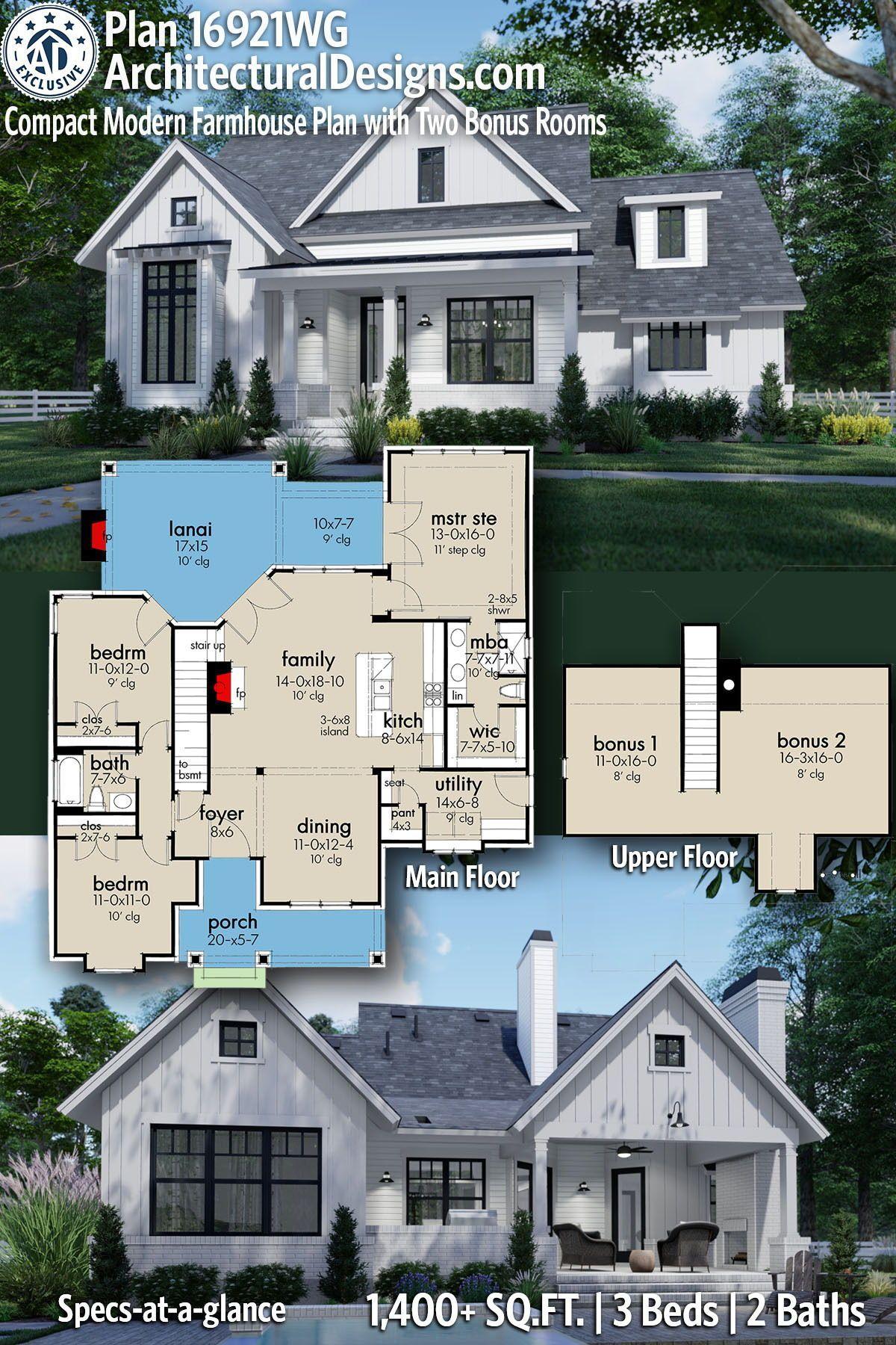 44+ Modern farmhouse home plans type