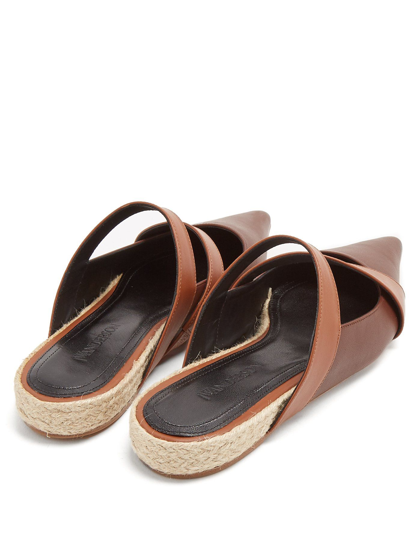 J.W.Anderson Point-toe leather backless ballet flats Cheap Brand New Unisex Cheap With Mastercard Where Can I Order Discount Original nIUFXUV
