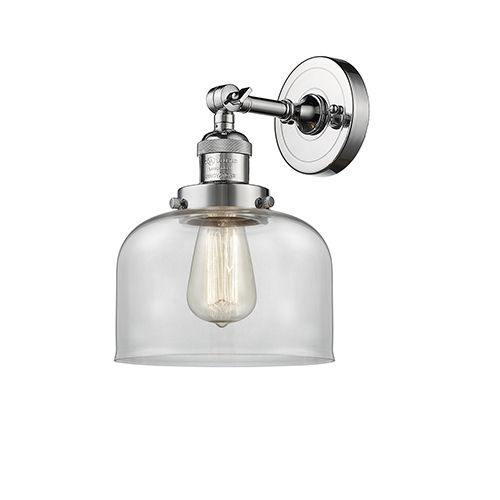 Innovations Lighting 203 Pc G72 Led Large Bell Led Wall Sconce W Clear Dome Glass In Polished Chrome Polished Reversible Urban Bellacor Sconces Wall Sconce Lighting Sconce Lighting