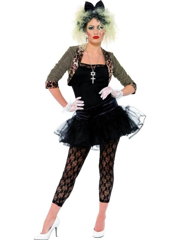 Adult Madonna Wild Child Costume Fancy Dress 80s Sexy Ladies Womens Female  BN | eBay