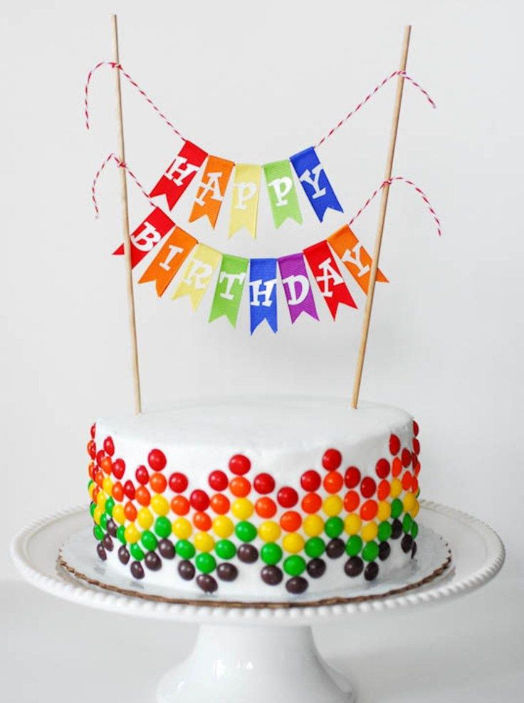 This Looks Fun Could Also Be Done Easily In Icing Good For A Chocolate Cake At Rainbow Themed Party