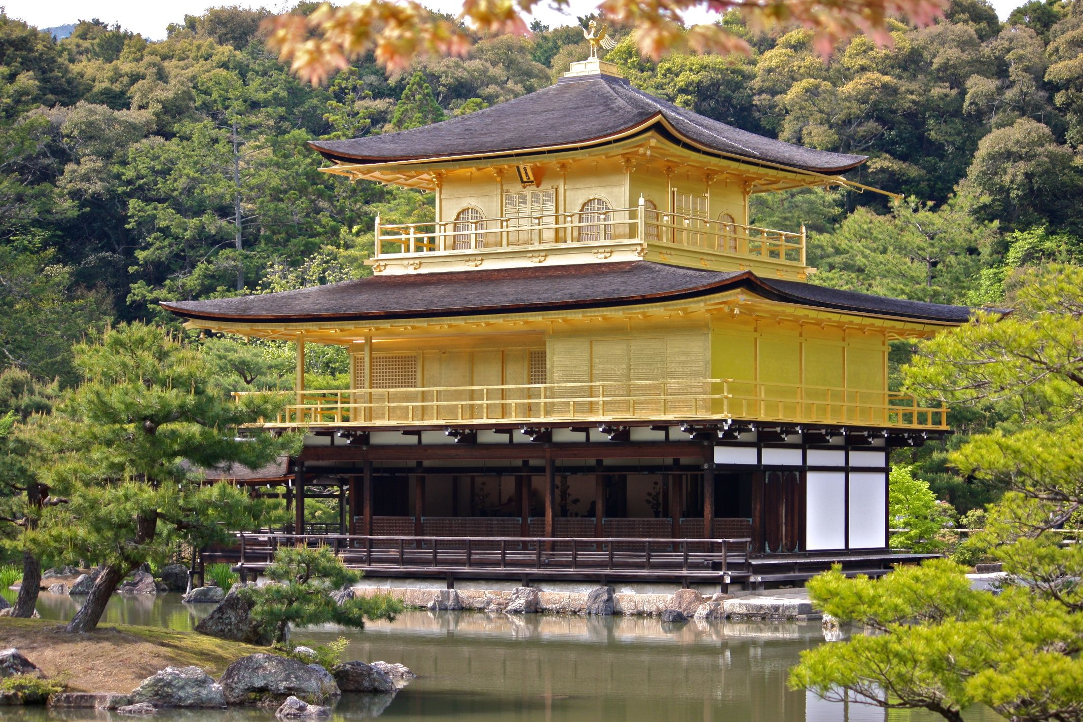 Kinkakuji (Golden Pavilion), Kyoto, Japan, 1394