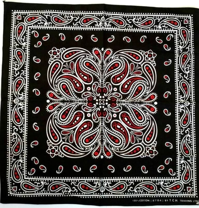 PAISLEY BANDANA 100/% Cotton Scarf Headband RED NEW