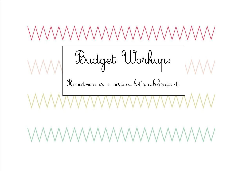 Budget Series Step 2 Make Your Basic Budget Workup