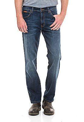 Herren Arizona Fit Wrangler Denim Straight Jeans Stretch Hose Neu 1cJuT3l5FK