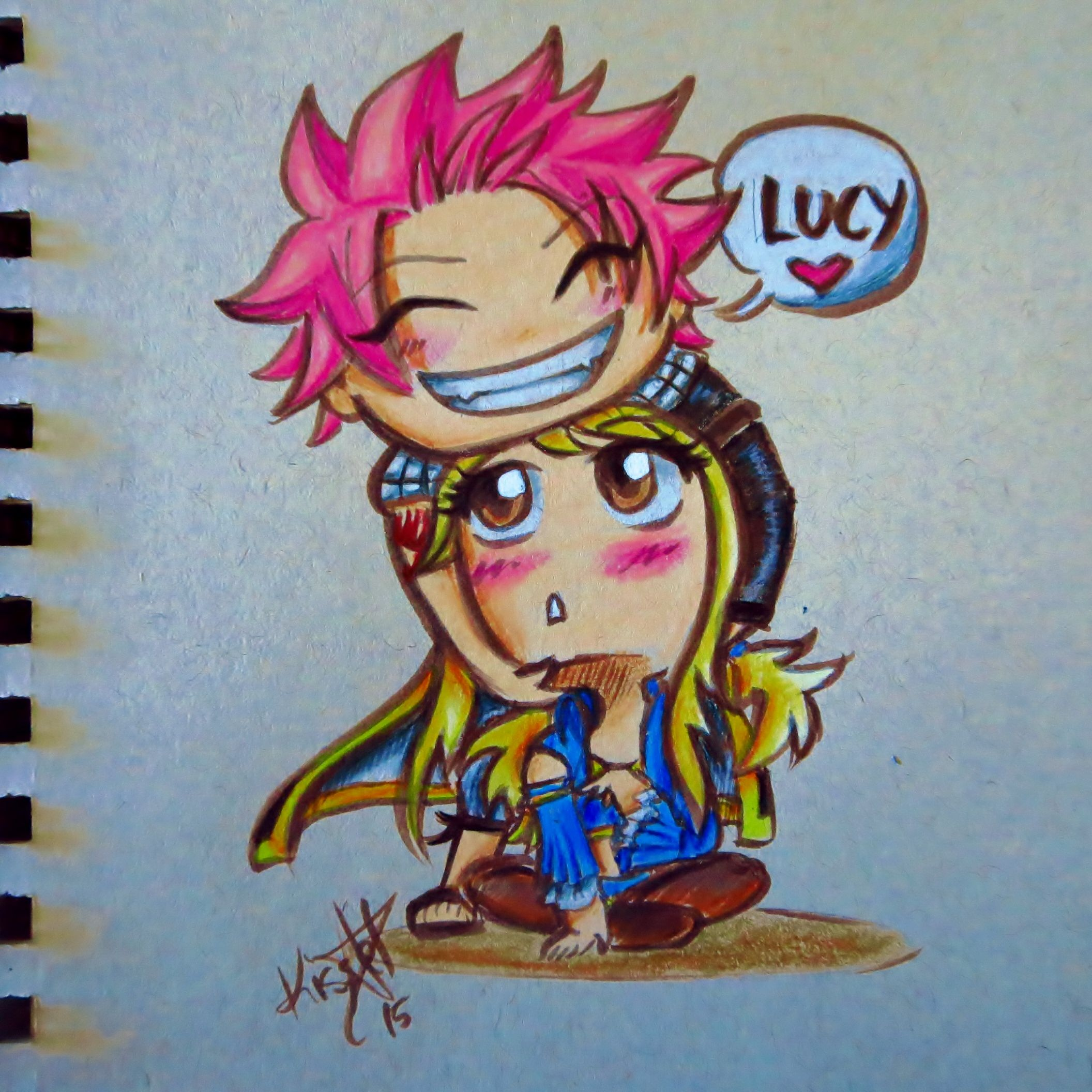 nalu colored!!! this is the best ship ever