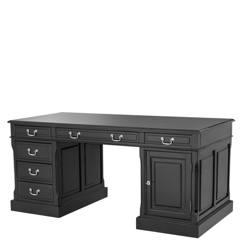 Eichholtz Schreibtisch British Black Desk Konsole Desk Black