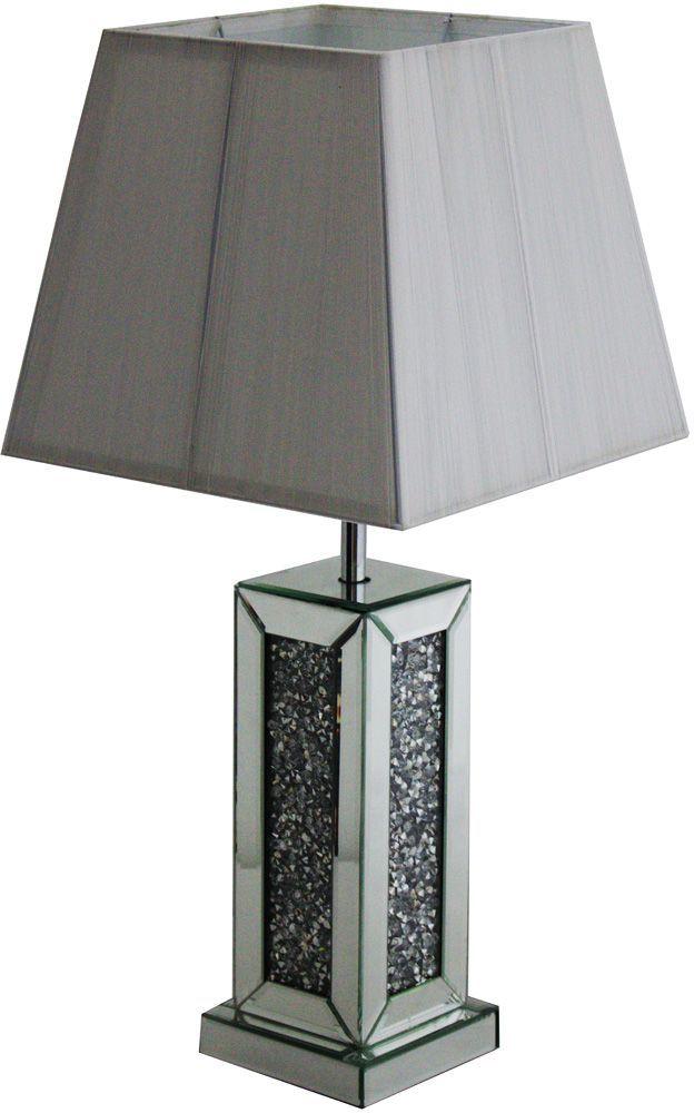 Crushed Diamond Mirrored Table Lamp