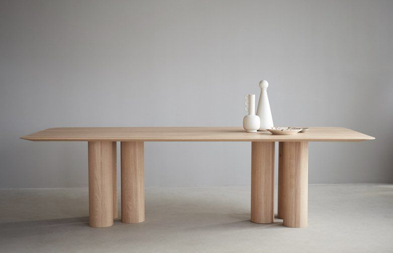 Hommage Oblong Dining Table – White Stained Oak