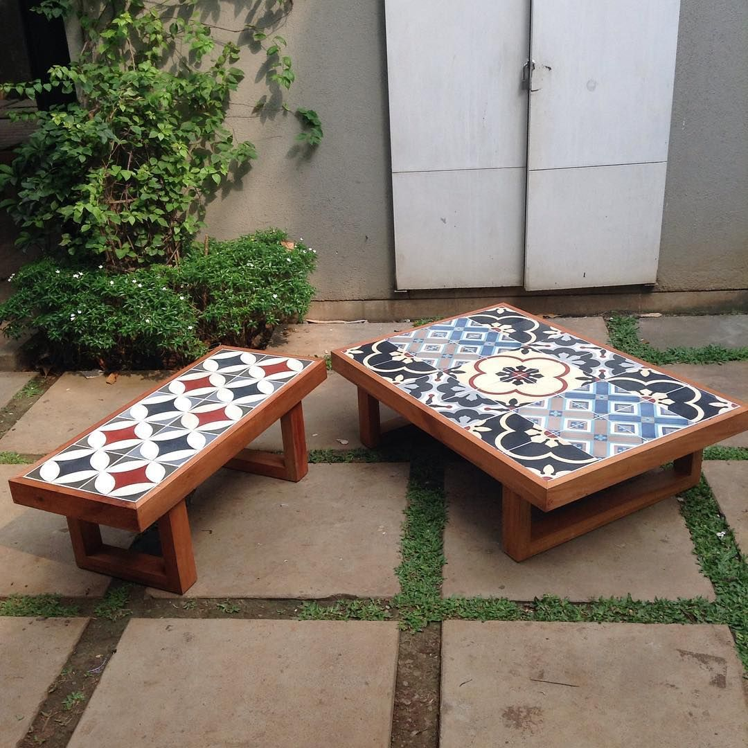 Cayenne Home On Instagram Happy Weekend All Back In Stock Our Tiles Coffee Table Bench With Top T Tiled Coffee Table Coffee Table Bench Tile Top Tables
