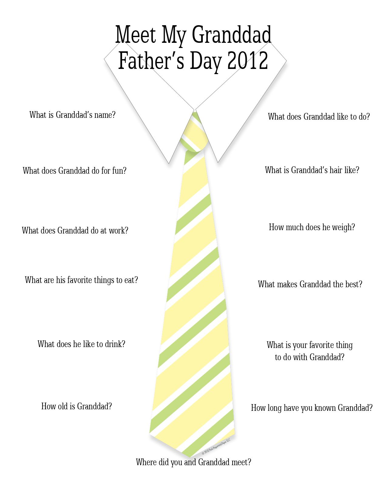 Fun Note For Grandfathers From Kids Fathers Day Is Coming