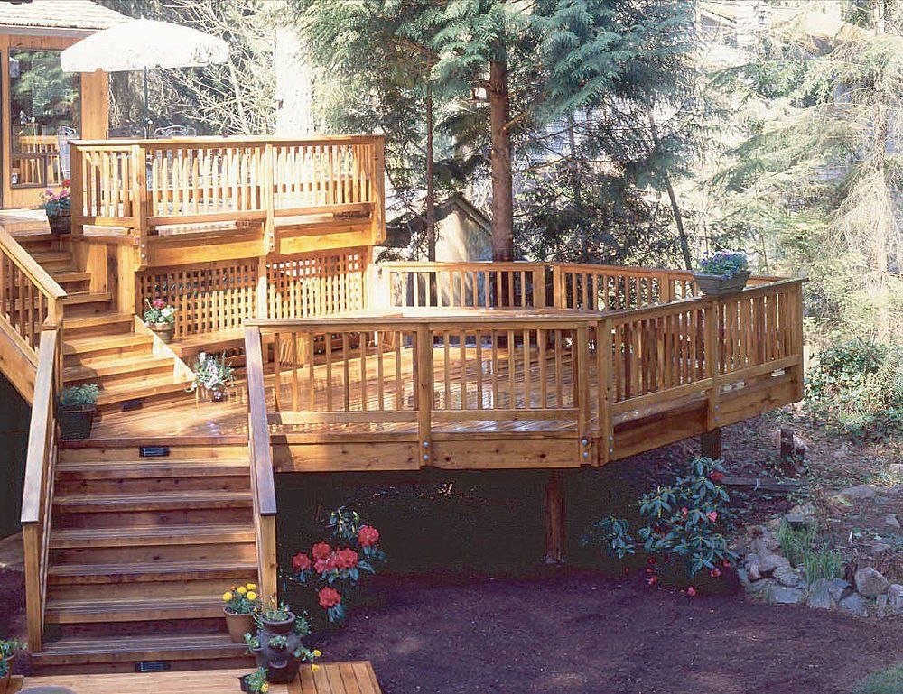 Tiered deck | Tiered deck, Building a deck, Decks backyard on Tiered Patio Ideas id=85076