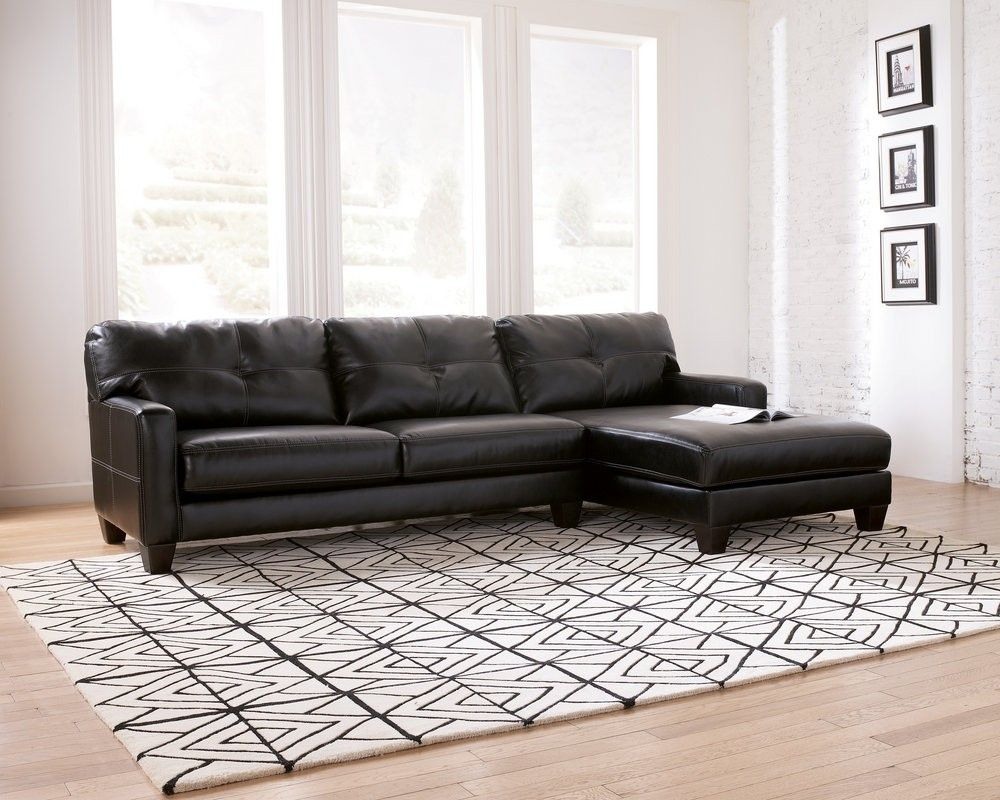 Stockholm Black Sectional RAF Corner Chaise with LAF Sofa Sectional ...