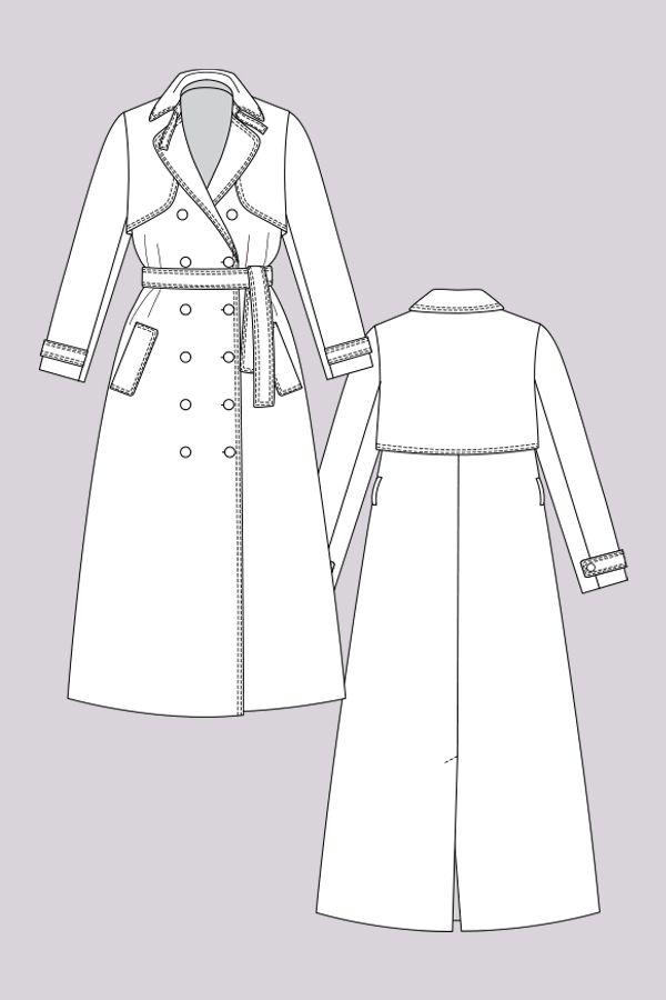 Isla Trench Coat | Pinterest | Mode zeichnen, Näh-muster und Zeichnen