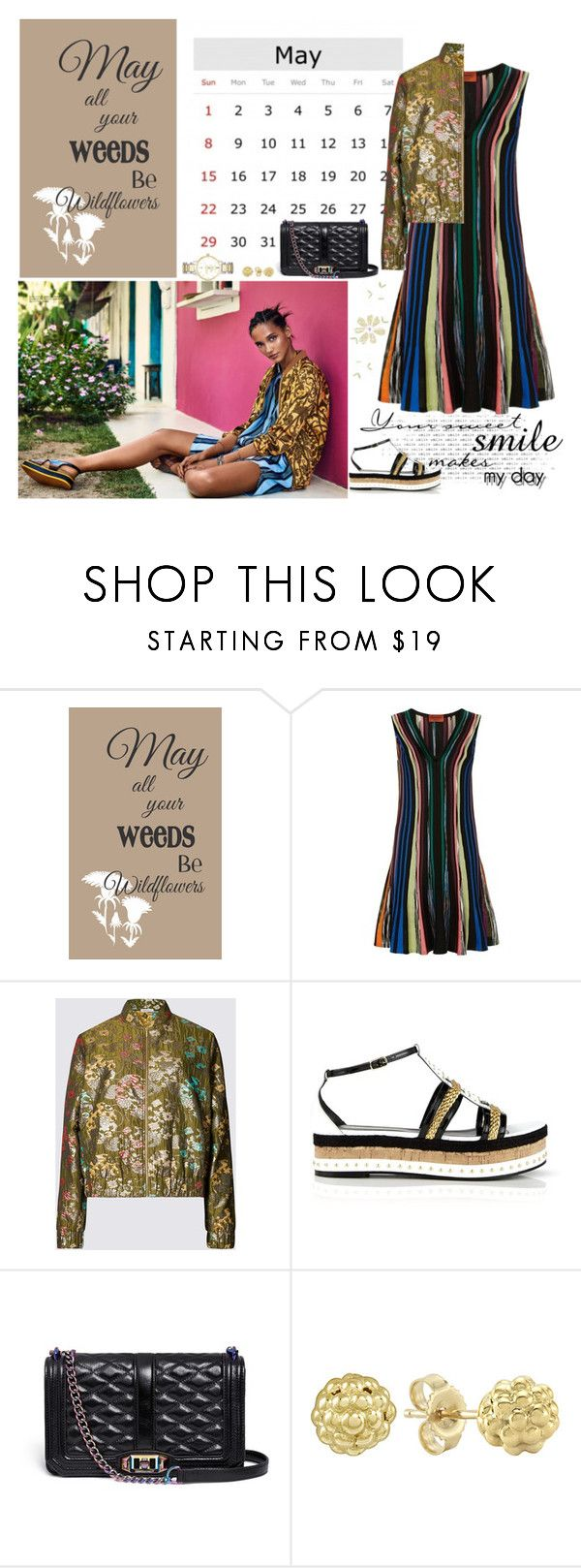 """""""May all your weeds be Wildflowers. Happy!! Happy!! May!!"""" by musicfriend1 ❤ liked on Polyvore featuring Missoni, Just Cavalli, Rebecca Minkoff, Lagos and Kate Spade"""