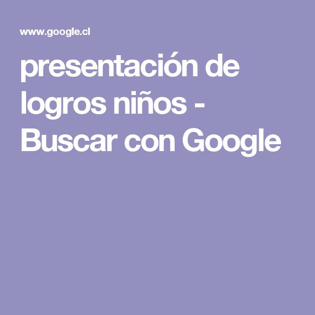 presentación de logros niños - Buscar con Google